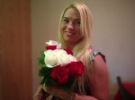 Andreea with Flowers