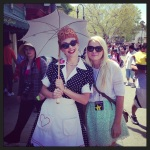 Andreea at Universal Studios with Lucy Ricardo